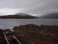 Broken boat ramp at Joan Point