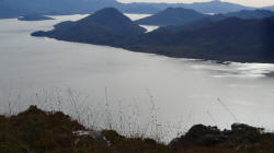 Location of Old Lake Pedder
