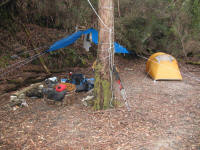 Campsite at Ketchem Bay